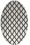 rug #396461 | oval white traditional rug