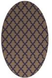 rug #396565 | oval blue-violet rug