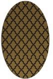 rug #396573 | oval black traditional rug