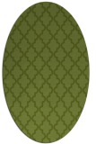 rug #396581   oval green rug