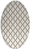 rug #396597 | oval white traditional rug