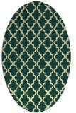 rug #396661 | oval yellow traditional rug