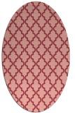 rug #396673 | oval pink geometry rug