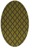 rug #396685   oval purple traditional rug