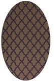 rug #396689 | oval purple geometry rug