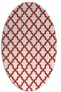 rug #396697 | oval red traditional rug