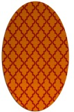 rug #396701   oval red traditional rug