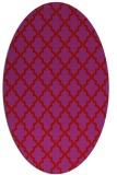 rug #396709 | oval red traditional rug
