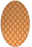 rug #396717 | oval red-orange traditional rug