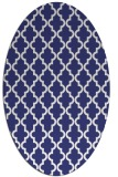 rug #396737 | oval white traditional rug