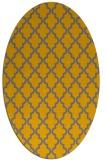 rug #396772 | oval geometry rug