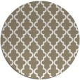 rug #397161 | round beige traditional rug