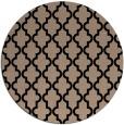 rug #397173 | round black traditional rug