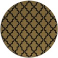rug #397181 | round mid-brown traditional rug