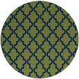 rug #397197 | round blue traditional rug