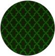 rug #397229 | round green popular rug