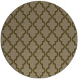 rug #397281 | round mid-brown traditional rug