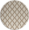 rug #397313 | round mid-brown traditional rug