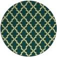 rug #397365 | round yellow traditional rug