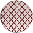 rug #397373 | round pink traditional rug