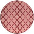 rug #397377 | round pink rug