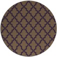 rug #397393 | round mid-brown traditional rug