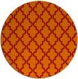 rug #397405 | round orange traditional rug