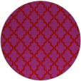 rug #397413 | round red traditional rug