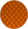 rug #397417   round red-orange traditional rug
