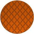 rug #397425 | round red-orange traditional rug