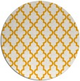 rug #397497 | round light-orange traditional rug
