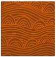 rug #398129 | square red-orange graphic rug
