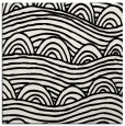 rug #398137 | square black abstract rug