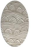rug #398217 | oval white rug