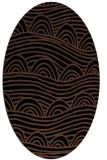 rug #398233 | oval brown graphic rug
