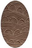 rug #398236 | oval abstract rug