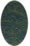 rug #398253 | oval green abstract rug