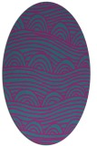 rug #398281 | oval blue-green abstract rug