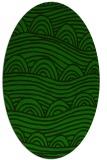 rug #398285   oval green rug