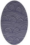 rug #398305   oval blue-violet graphic rug