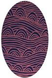 rug #398309 | oval pink graphic rug