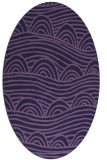 rug #398313 | oval purple graphic rug