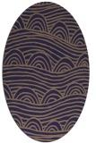 rug #398325 | oval beige abstract rug