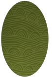 rug #398341 | oval green abstract rug