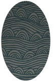 rug #398345 | oval blue-green abstract rug
