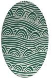 rug #398349 | oval green popular rug