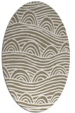 rug #398357 | oval white abstract rug