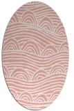 rug #398437 | oval white abstract rug