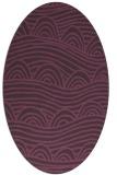 rug #398441   oval purple graphic rug
