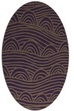 rug #398449 | oval purple graphic rug